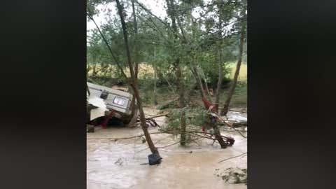 Il est tombé par endroits l'équivalent de cinq mois de pluie en quelques heures. (Capture facebook Météo Languedoc)