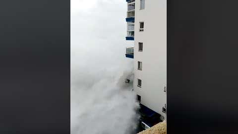 L'île principale des Canaries a été a été touchée par une forte tempête ce week-end. (Capture Facebook Nelson J. Acosta)