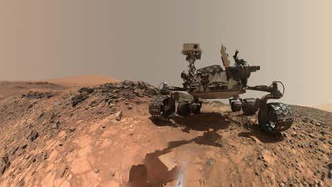 Le robot Curiosity a découvert des traces de matière organique et de méthane. (NASA/JPL-Caltech/MSSS)