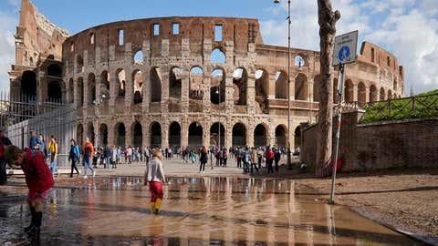 La tempête de lundi a été trèsviolente, notamment à Rome. (weather.com)
