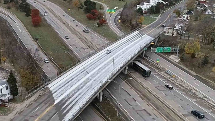 Why Bridges Freeze Before Surrounding Roads