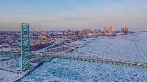 Detroit and Ambassador Bridge