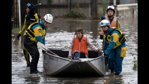 Typhoon Hagibis Brings Major Flooding to Japan (PHOTOS)