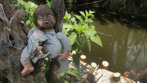 The Island of the Dolls (Isla de las Munecas), located in the Xochimilco canals south of Mexico City, is home to hundreds of spooky dolls. Discovered in the '90s, the island is said to be dedicated to the memory of a little girl who drowned in the canal many years ago. (Getty Images)
