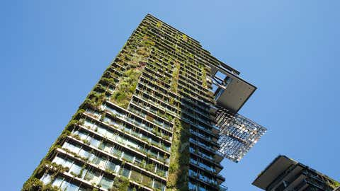 The world's tallest vertical garden at One Central Park in Sydney, Australia by Patrick Blanc. (Getty Images)