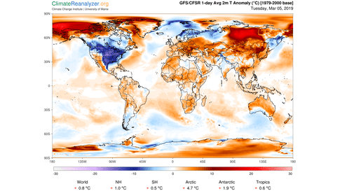 The Most-Below-Average Temperatures Anywhere on Earth are in the ...
