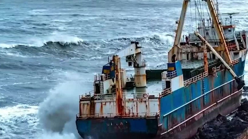 Storm Dennis Washes 'Ghost Ship' Ashore in Ireland