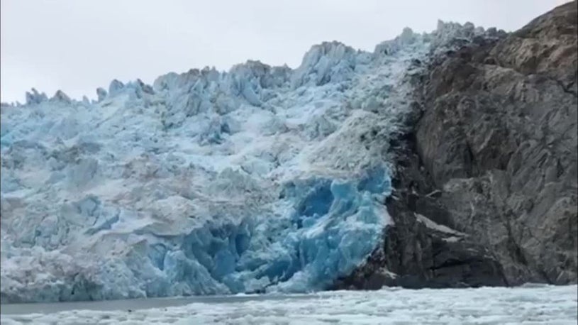 Alaska's Sawyer Glacier Calves Leaving Tourists Stunned and Delighted