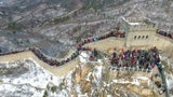 See The Great Wall of China Blanketed in Snow