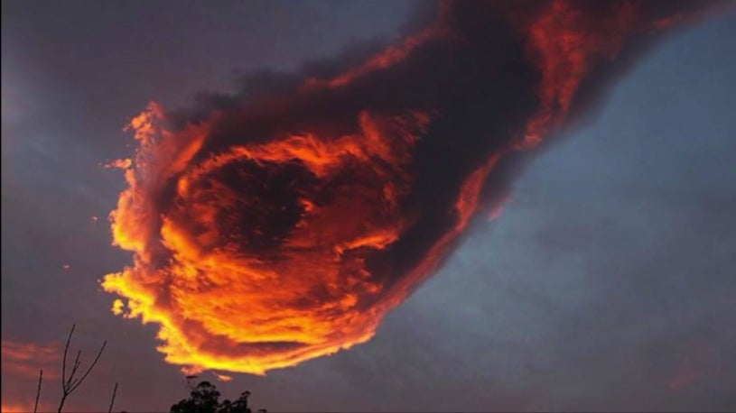'Hand of God' Cloud Appears Over Portugal