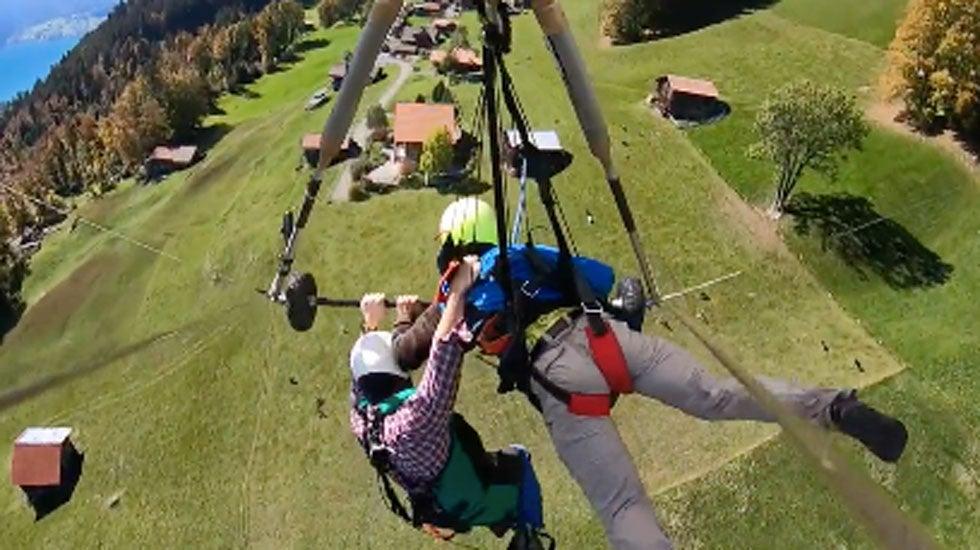Hang-Glider Describes Terrifying Flight Over Alps