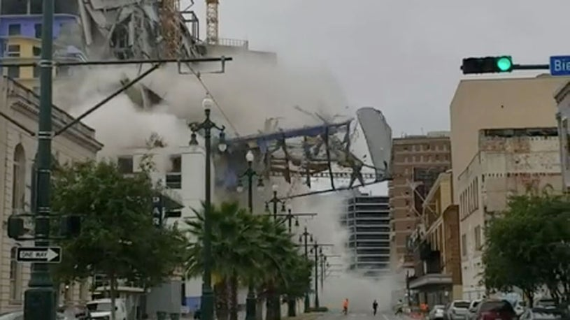 Death Toll Rises and Crane is Dangerously Unstable in New Orleans Hotel Collapse