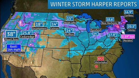 Winter Storm Harper Brings Widespread Snow To The West Midwest And