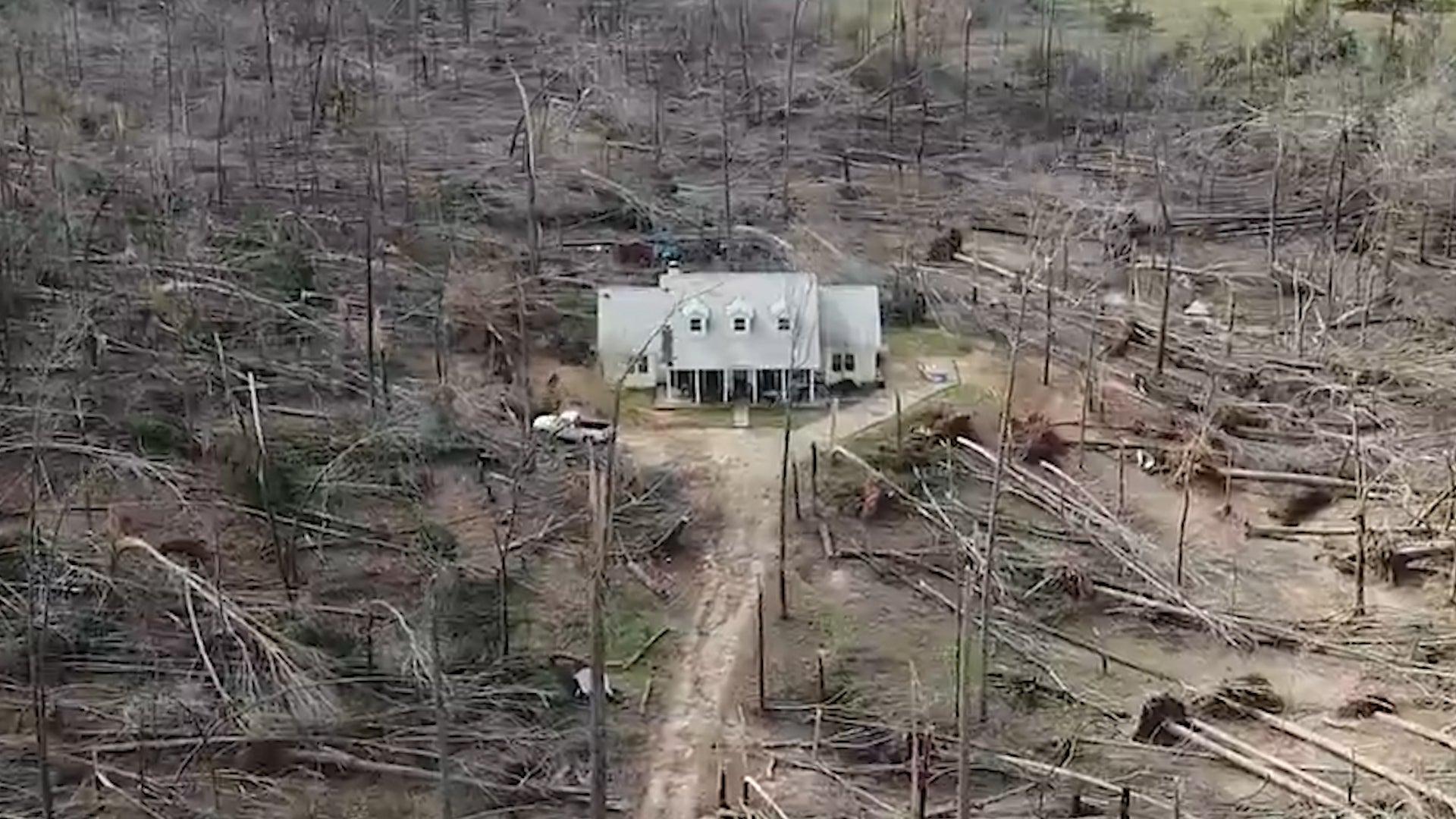 House Somehow Survives Destructive Tornado in Georgia