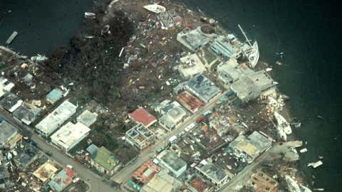 Hurricane Hugo devastated parts of the Caribbean in mid-September 1989 before it reached the coast of South Carolina.