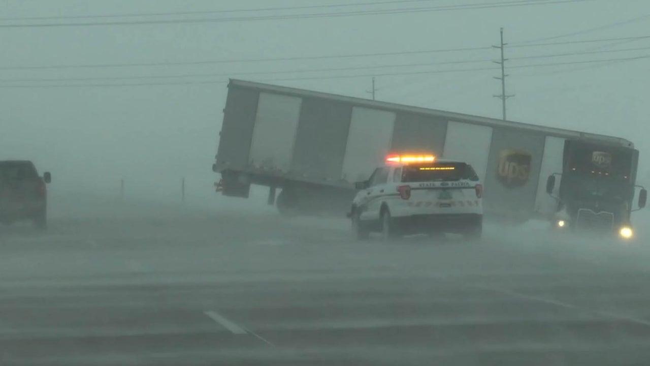 Winter storm brings treacherous conditions to Plains, Midwest
