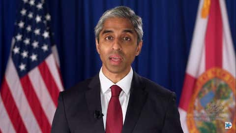 Former Surgeon General Vivek Murthy speaks to the virtual Democratic Party National Convention on Thursday, August 20, 2020.