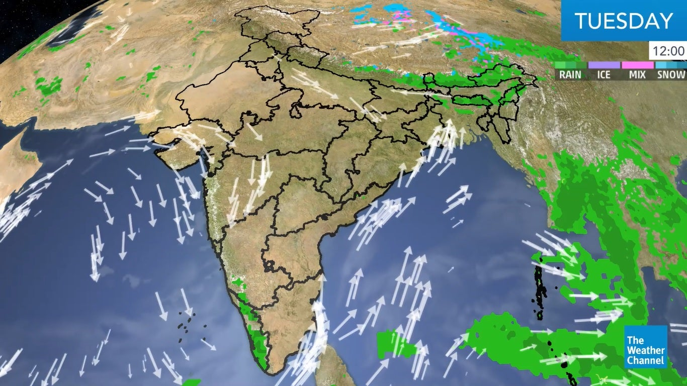 Here's the daily weather update for India.