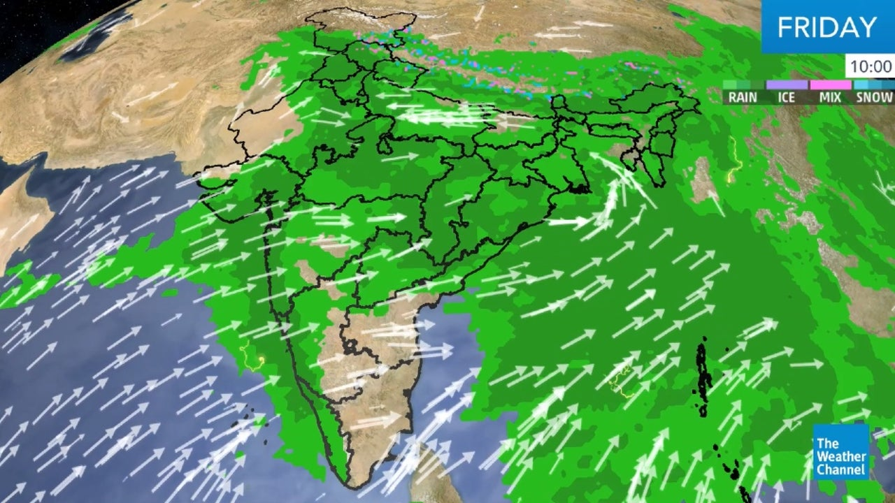 India's weather forecast for today.