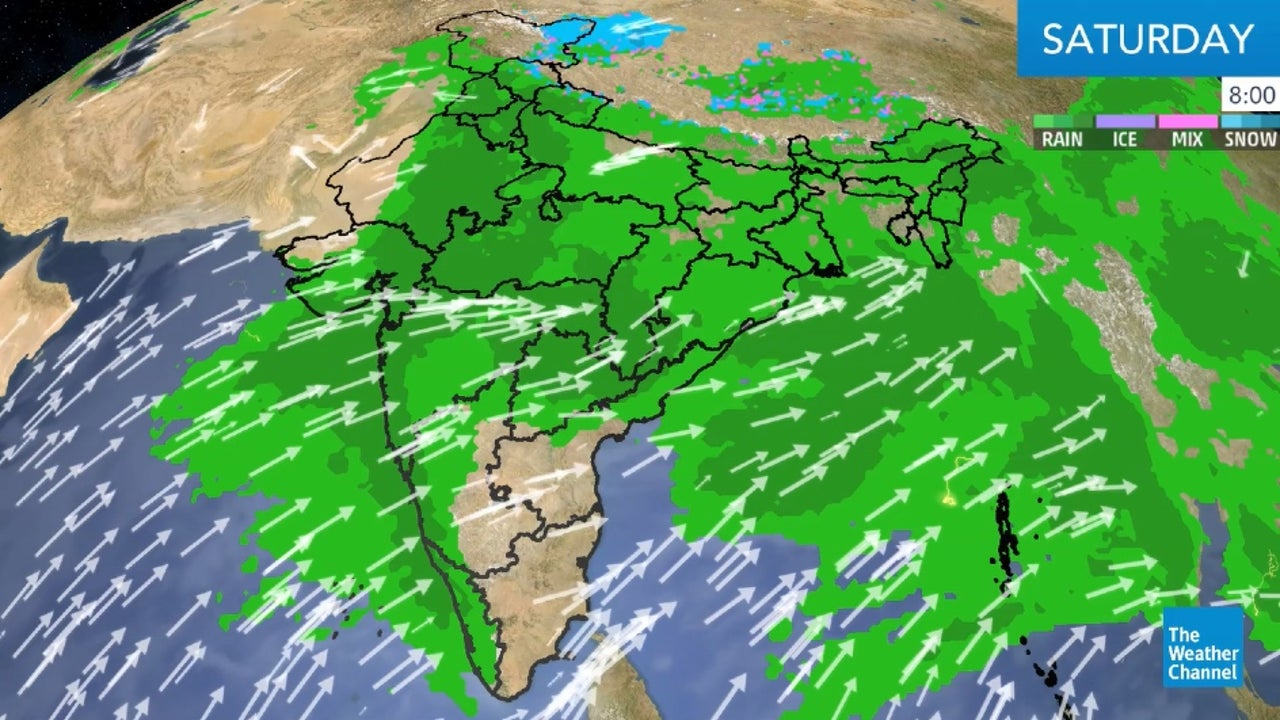 India's weekend weather forecast.
