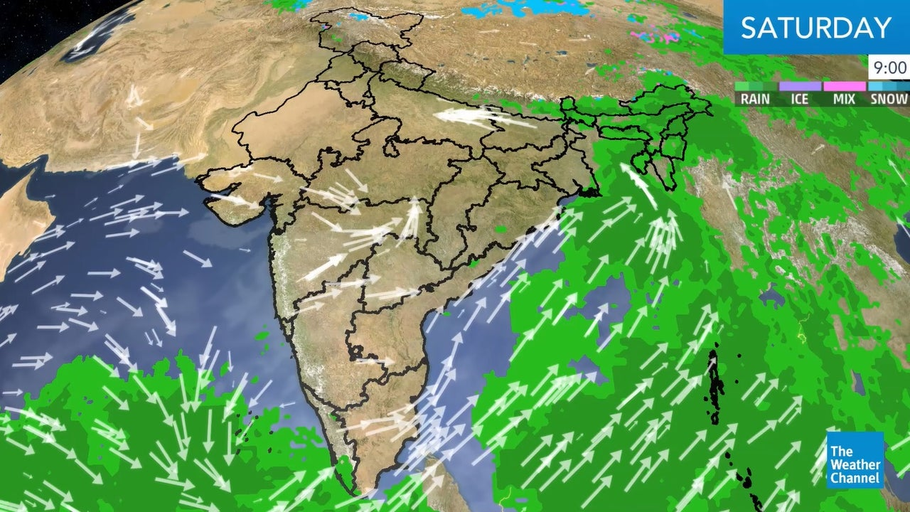 India's weather update for today.