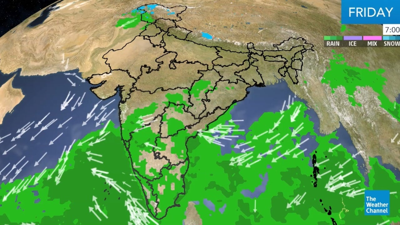 Here's our latest weather forecast for India.