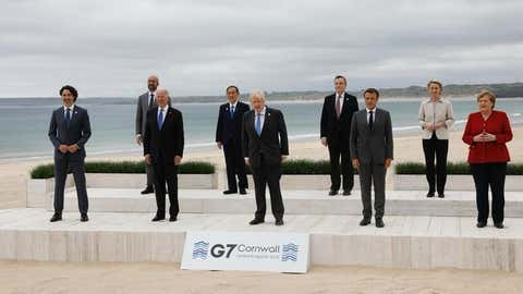 World leaders at the G7 Summit in Cornwall, England. (G7/IANS)