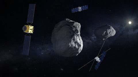 ESA Hera Mission to Didymos Binary Asteroid System (ESA)