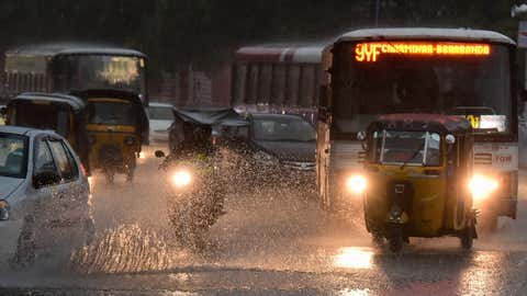 Heavy rains in Hyderabad on Monday, September 28 (Ram Moorthy / BCCL, Hyderabad)