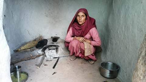 Guddo Devi, a farmer from Jammu's Udhampur, speaks about crop loss due to hailstorms (IANS)