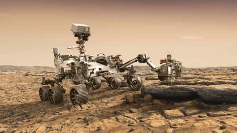 Perseverance's robotic arm (NASA Science)