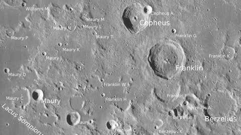 Finally, Maury is on the Moon. (NASA/LRO_LROC_TEAM)