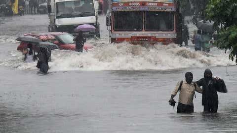 The situation in Mumbai after incessant heavy rains. (KK Choudhary/TOI, BCCL, Mumbai)