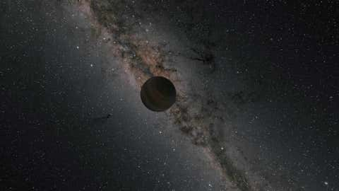 This illustration shows a rogue planet travelling through space. (NASA/JPL-Caltech/R. Hurt)
