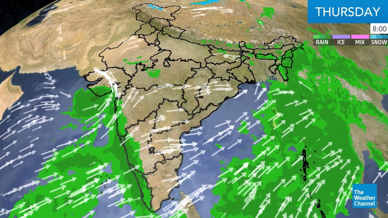 India weather forecast for today.
