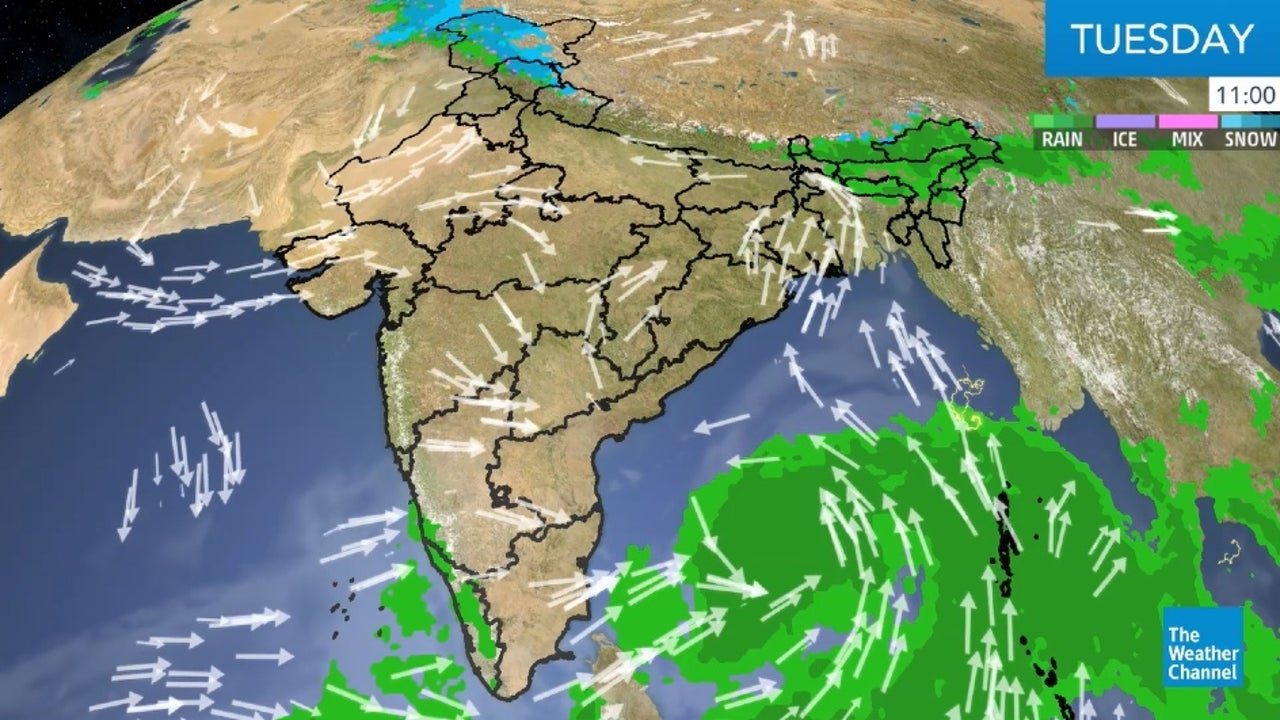 Rain and thunderstorms are likely in Goa, Karnataka, Telangana, AP, Maharashtra and Kerala.