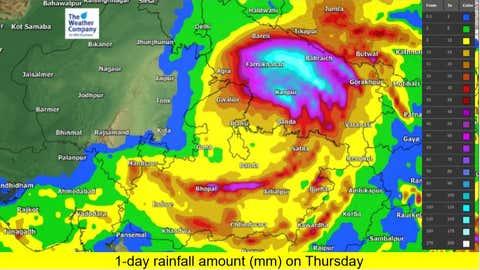Total rainfall amount on Thursday. (TWC Met Team)