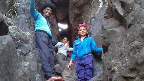 Vinod Mankar with his son, Nishad. (Vinod Mankar)