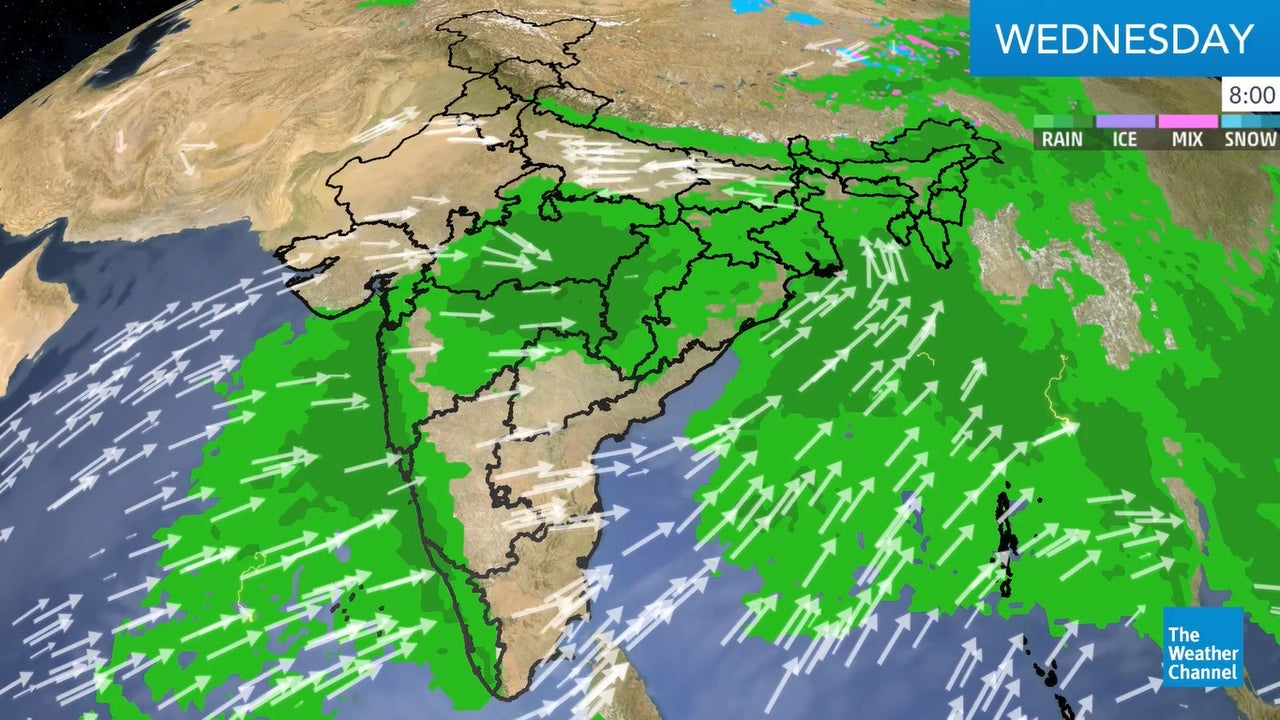 India' weather forecast for today.