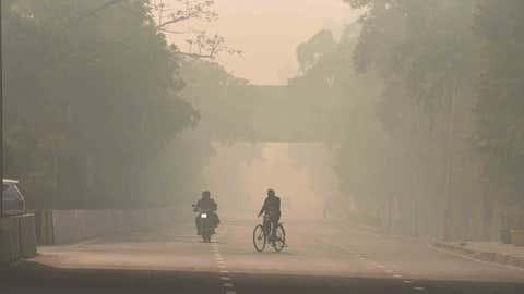 File photo: Air pollution over Delhi. (Prem Bisht/TOI, BCCL, Delhi)