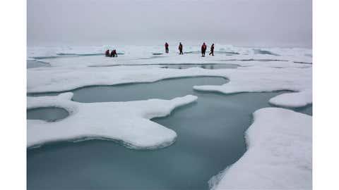 Arctic sea ice.(NASA/Kathryn Hansen)