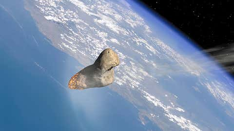 Asteroid cruising towards Earth. (LWP Kommuicacio)