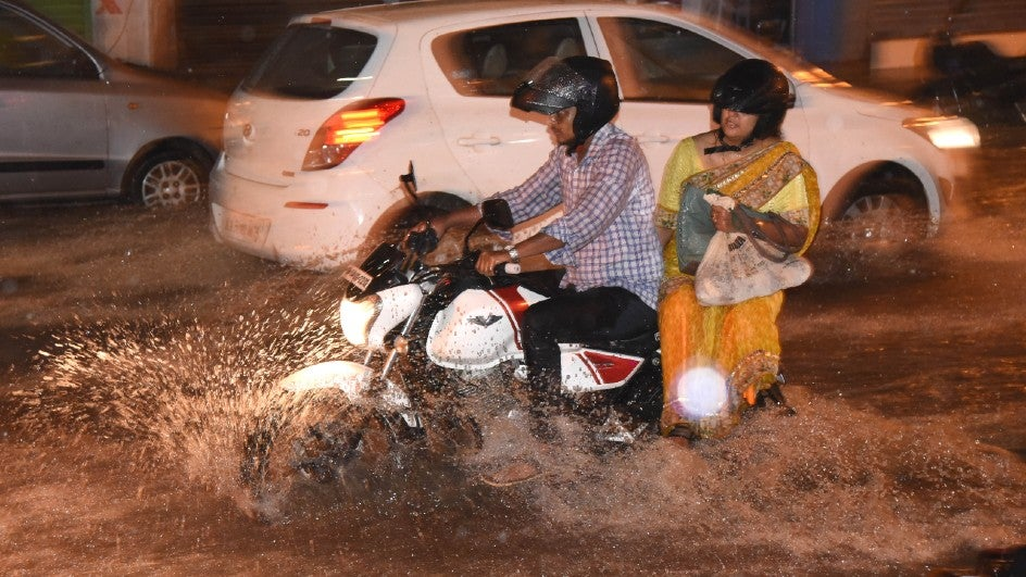 One person was killed by heavy rain in Bengaluru on Saturday.