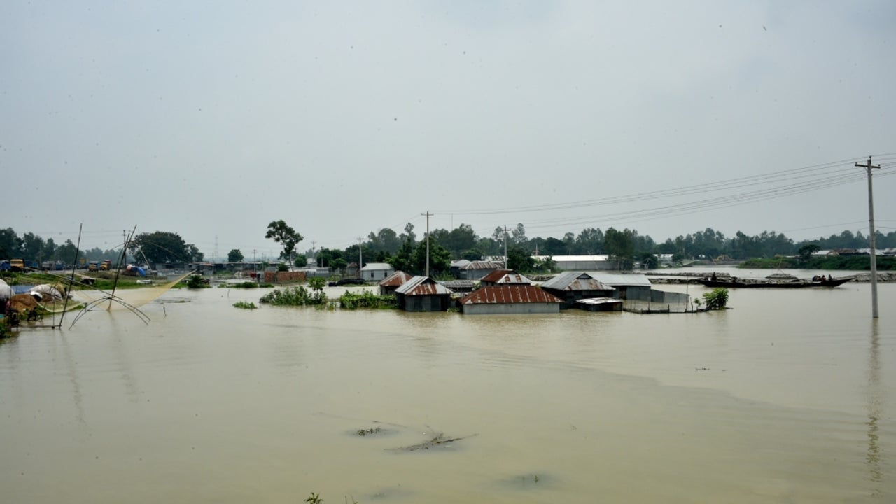 13,09,150 people have been affected due to floods in 15 districts of Bangladesh, triggered by heavy seasonal rains and onrush of water from hills across Indian borders with a rise in water levels of river Padma along with Brahmaputra, Jamuna expected to cross the danger mark.