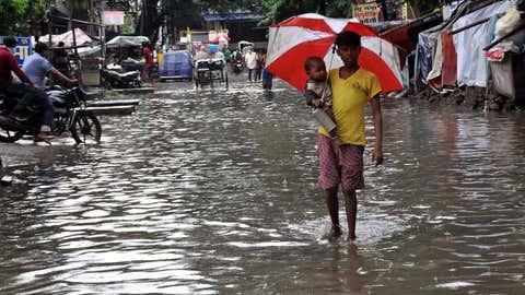 Heavy rainfall causes waterlogging at Lohanipur road in Patna, Bihar. (Pramod Sharma/BCCL Patna)
