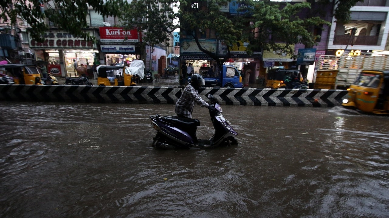 The intense monsoon spell during the early hours of Thursday was in stark contrast to the dry conditions over Chennai so far in October.