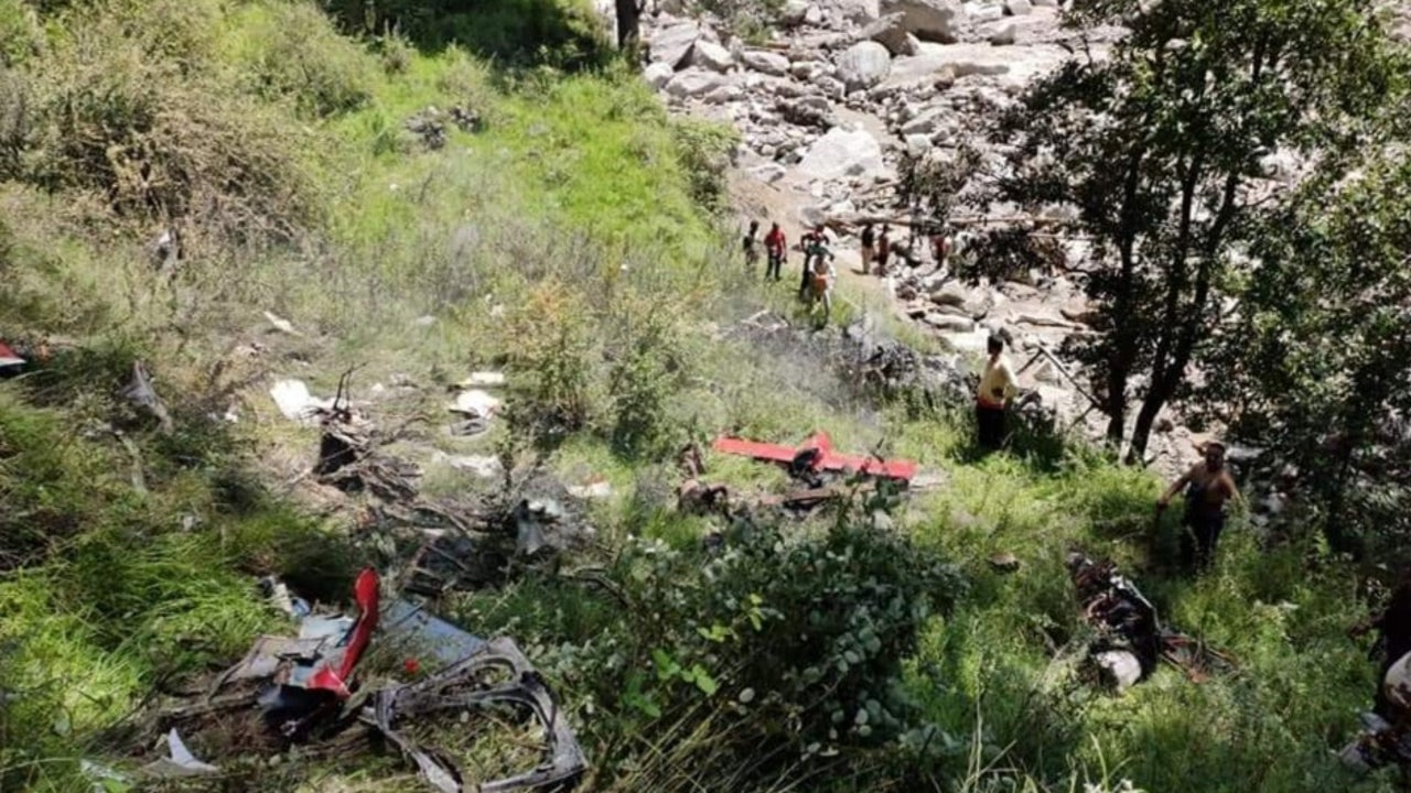 The helicopter crashed near Moldi while returning from a relief material distribution operation in the affected region. The deceased were identified as pilot Ranjit Lal, co-pilot Shailesh, and crewmember Rajpal Rana.