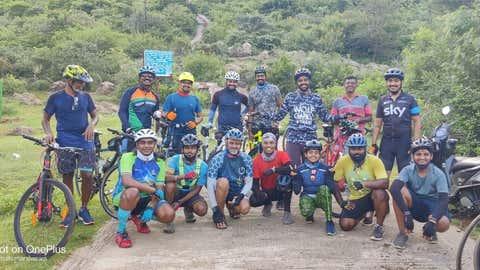 The WCCG team all smiles after a ride. (Shanmuga Sundar)