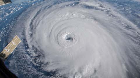 Representative image of a cyclone (NASA / International Space Station)