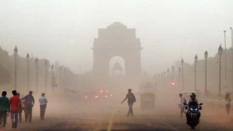 File photo: Dust storm in New Delhi (Piyal Bhattacharjee/TOI, BCCL, Delhi)